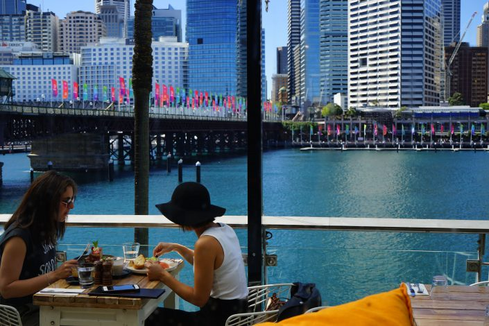 Harbour Bar & Kitchen View of Darling Harbour
