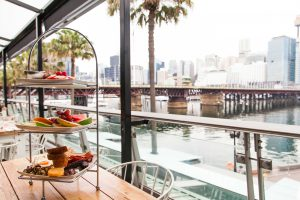 HBK Outside Sitting Area with Darling Harbour View