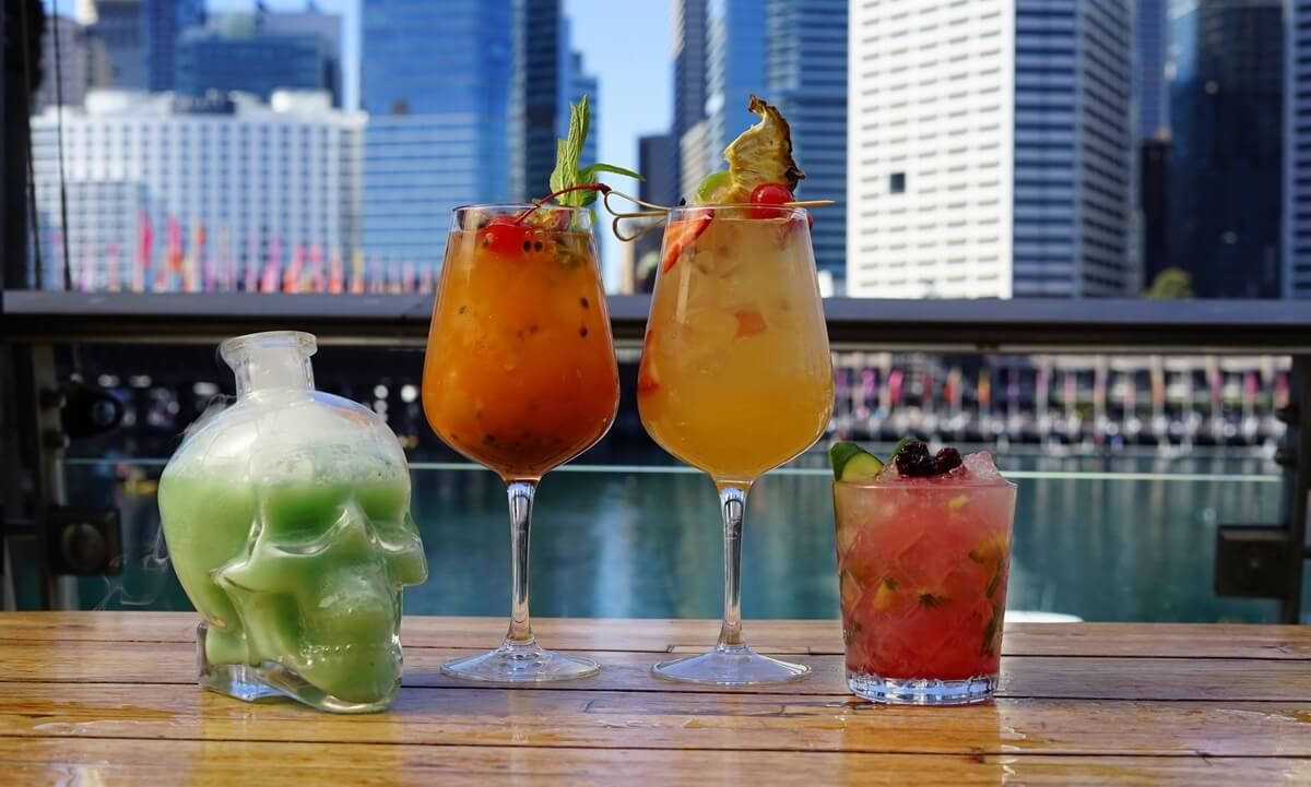 Grab a cocktail at Happy Hour Harbourside Darling Harbour