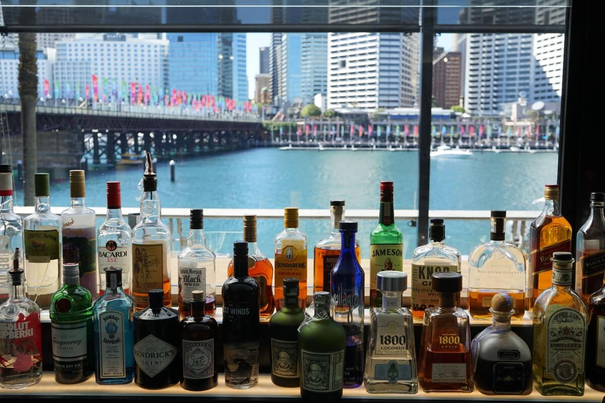 Grab a drink at Happy Hour Harbourside Darling Harbour