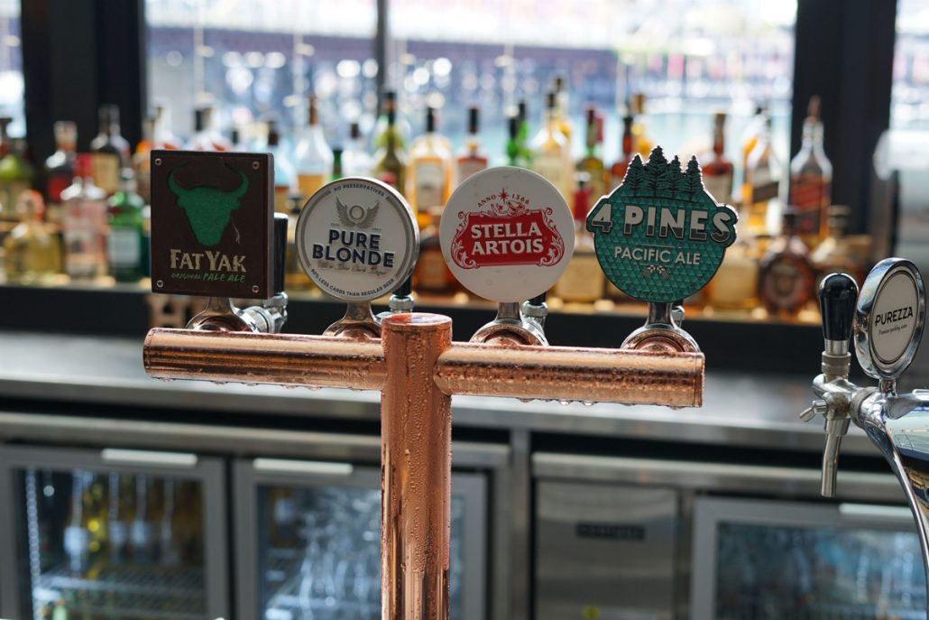 Beers on tap at Harbour Bar and Kitchen